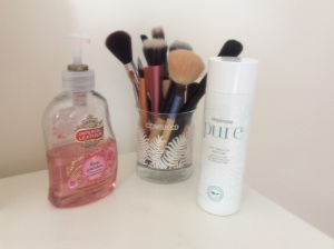 Keeping my brushes squeaky clean! Errr yeah, about that . . .!!