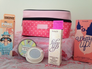 My new benefit Besties, and my cute as a button makeup bag!